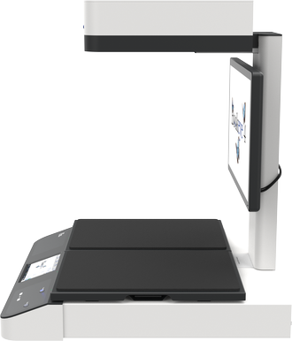 Grayscale overhead scanner for formats up to A2+