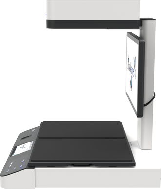 Color overhead scanner for formats up to A2+